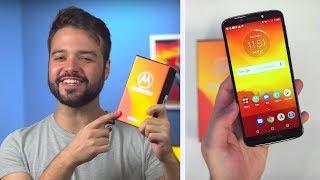 Smartphone BARATO e com BOA TELA 18:9   Moto E5 - unboxing BoA 検索動画 24