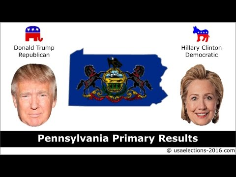 Pennsylvania Primary Result 2016 : US Election 2016