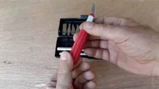 Видео обзор бюджетного набора сменных ножей для моделистов