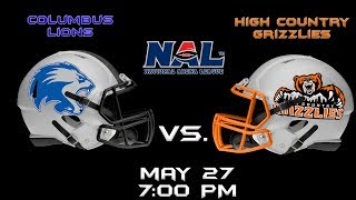 Columbus Lions vs. High County Grizzlies