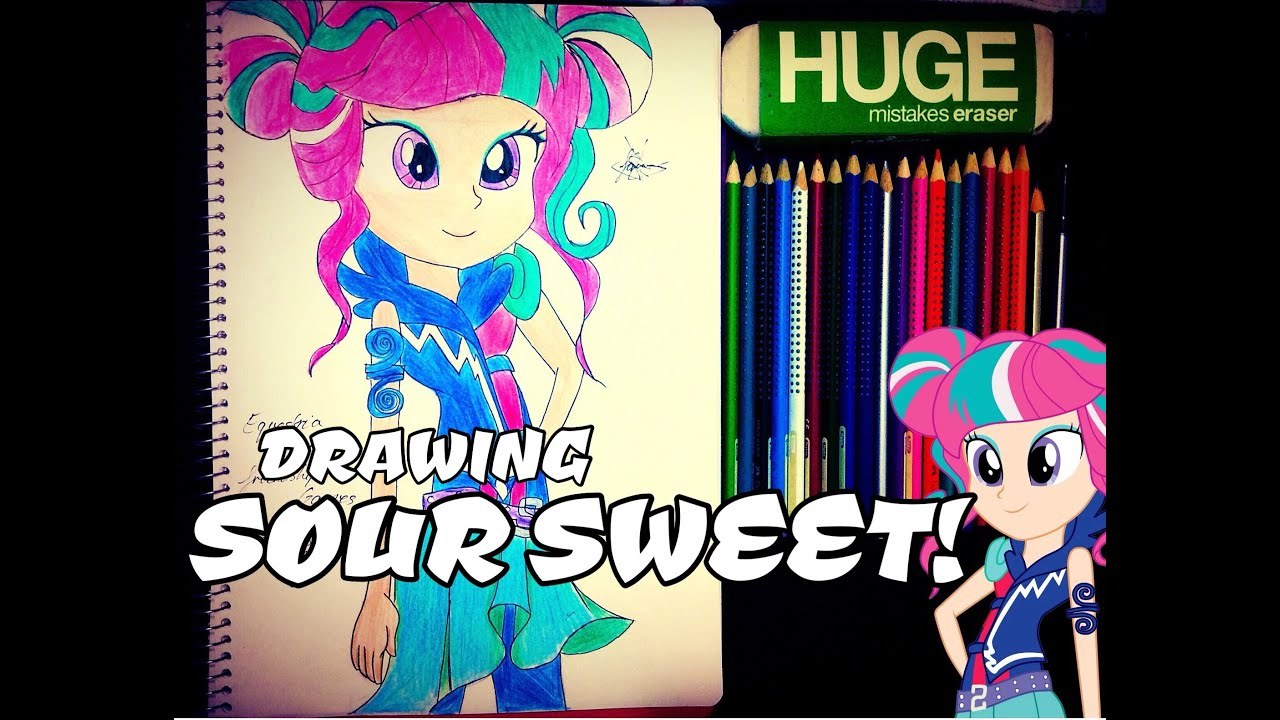 Uncategorized My Little Pony Drawing Games speed drawing sour sweet equestria girls 3 friendship games mlp fim yitsune melody youtube