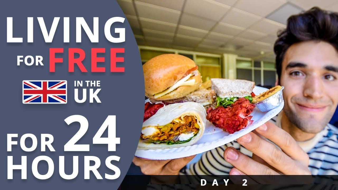 LIVING for FREE for 24 HOURS in THE UK! (Day #2)