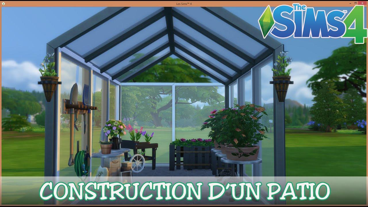 Les sims 4 fr hd construction piece un patio jardin for Sims 4 jardin romantico