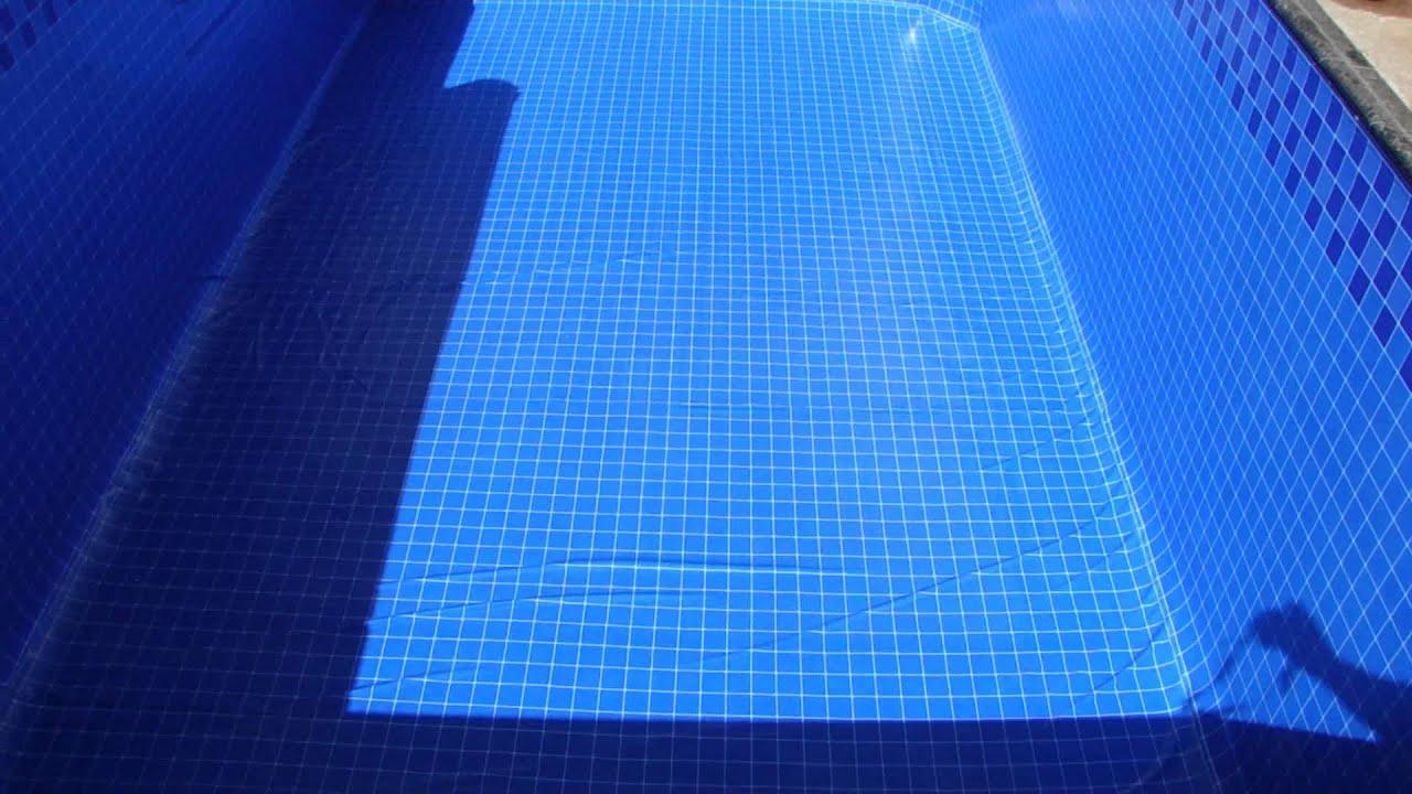 Instalando o vinil na piscina youtube for Piscina de r 100