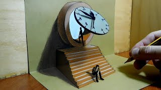 3D Trick Art on Paper - The Doubling Theory,  Space and Time