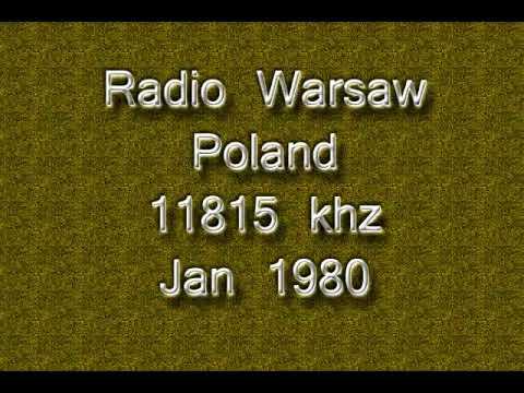 Radio Warsaw, Poland, 11815 khz, Jan 1980