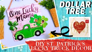 Diy Dollar Tree St. Patrick's Day Decor   How To Create Lucky Mama Truck Wall Decor With Template!