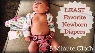 LEAST favorite newborn cloth diapers!