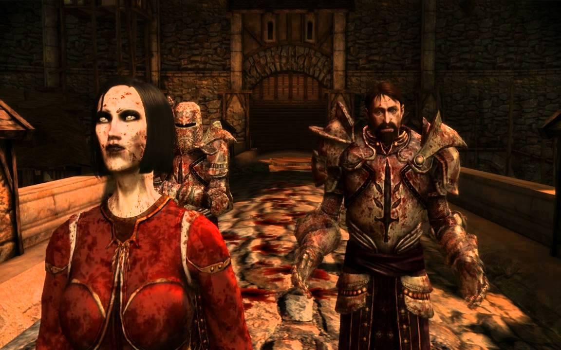 dragon age origins blood mage cutscene youtube