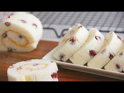 Red Bean Angel Roll Cake 红豆天使蛋糕卷 ll Apron