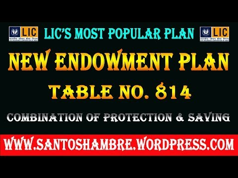 LIC OF INDIA  Endowment Plan No. 814