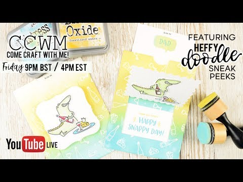 CCWM - Making an interactive Father's Day card with Heffy Doodle Stamps!