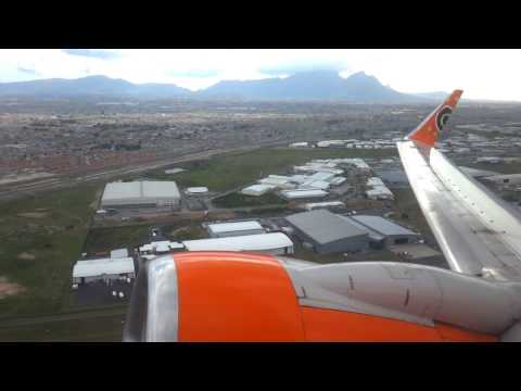 Mango B737-800 ZS-SJE Taking off from Cape Town to Durban