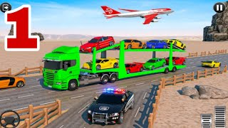 Crazy Car Transport Truck:New Offroad Driving Game Part 1 screenshot 4