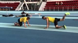 Pole Vault Floor mobility drills