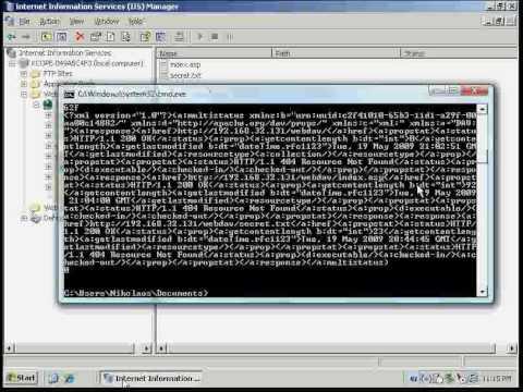 IIS WebDAV Vulnerability in Action - YouTube