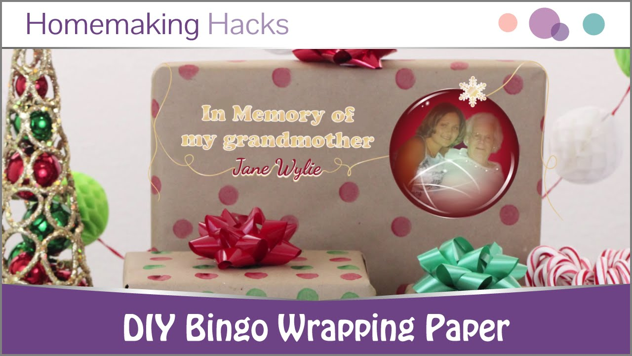 Do it yourself bingo wrapping paper youtube do it yourself bingo wrapping paper solutioingenieria Image collections