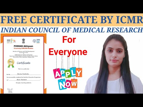 Indian Council of Medical Research Certificate Courses / Free online courses with Certificate
