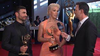 Hannah Waddingham and Brett Goldstein: 73rd Emmys Winnerview