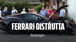 Distrugge la Ferrari del papà da 300mila euro: è il figlio di un noto imprenditore
