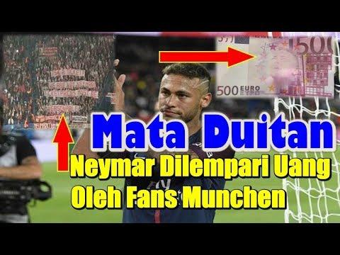 Dianggap Mata Duitan, Fans Bayern Munchen Lempari Neymar dengan Uang