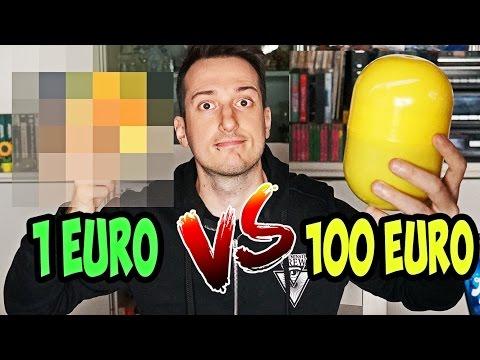 SORPRESA UOVO DA 1 EURO VS SORPRESA DA 100 EURO!