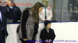 Изотов и Исинбаева на открытии хоккейного турнира
