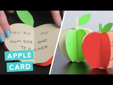 DIY Apple Card To Say Thank You For Teachers | DIY Pop Up Cards | Craft Factory