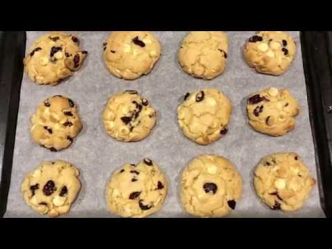 White Chocolate Cranberry Cookies // AESTHETICALLY COOKED