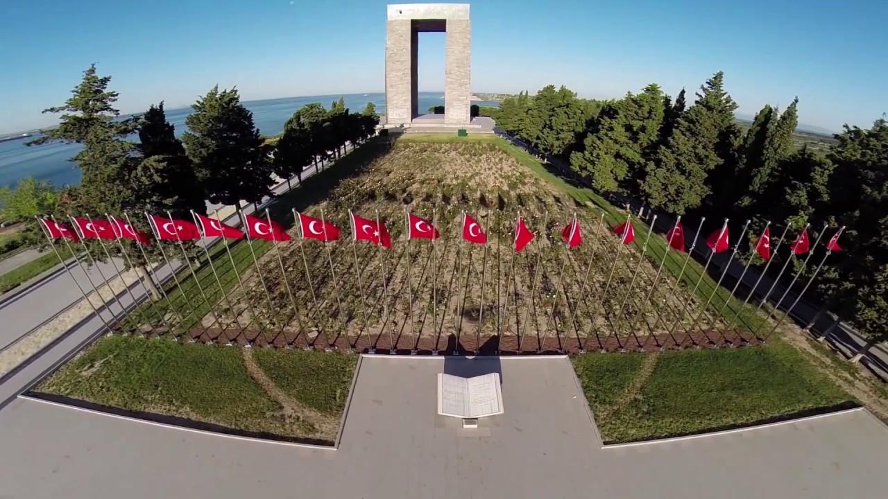 çanakkale şehitleri Anıtı Hava çekimi