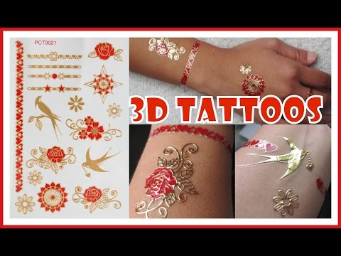 How to Apply 3D Metallic Flash Tattoos | Meliney