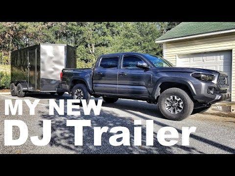 My NEW DJ Trailer | Custom Built | Transporting Gear | Speakers Truss Lighting | DJ Life