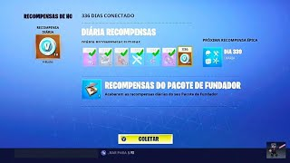 Fortnite Save the world-336 days connected 1000 V-Bucks