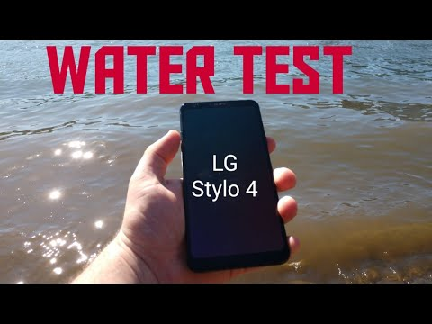 LG Stylo 4 water test...Water resistant?