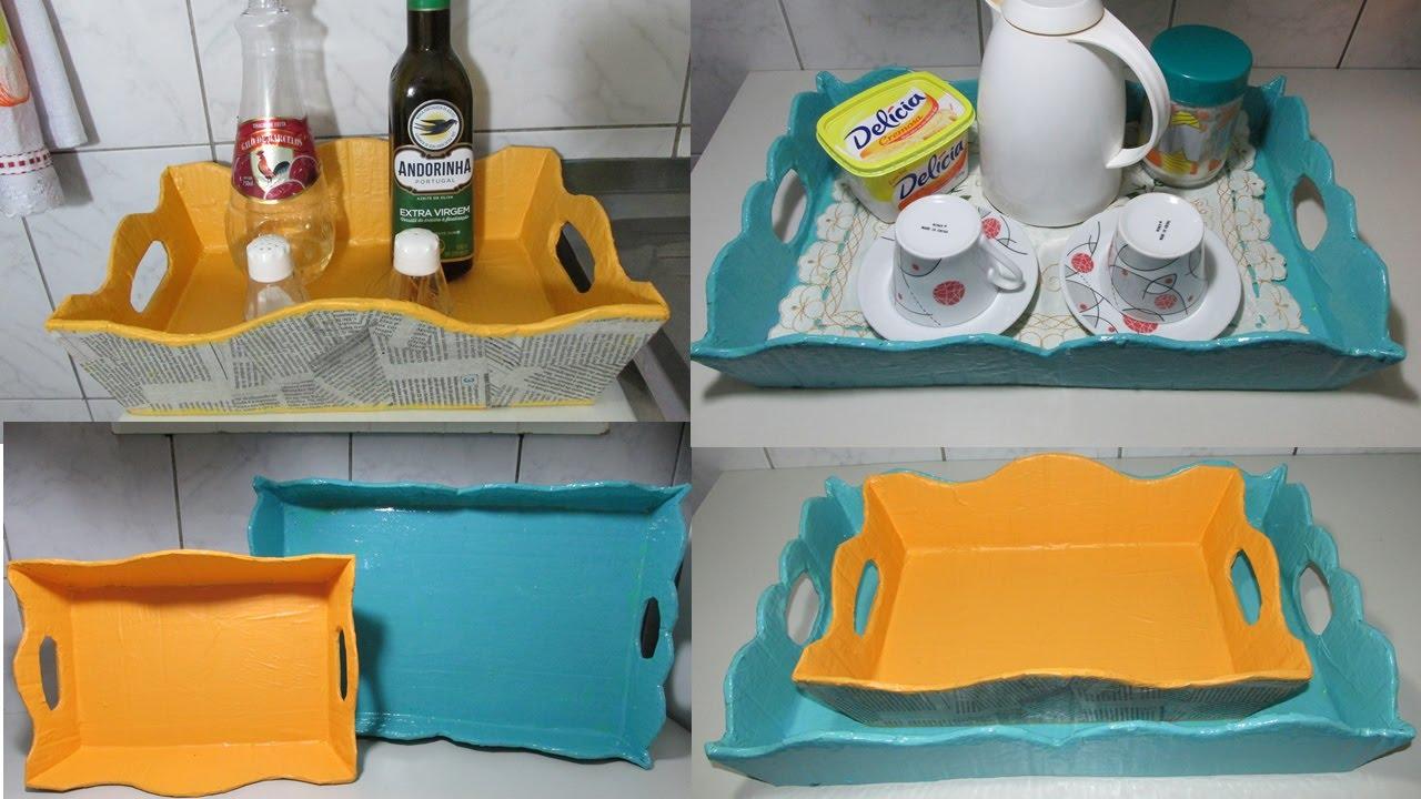 Conhecido DIY - Como fazer bandeja de papelão! - YouTube JY26