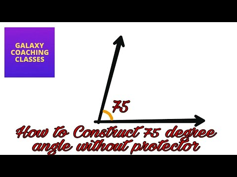 how to draw 75 degree angle with compass