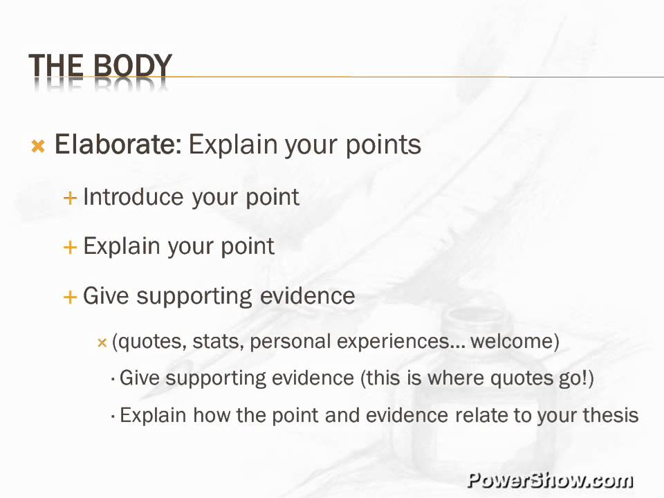 Parts of an Essay - YouTube - parts of an essay