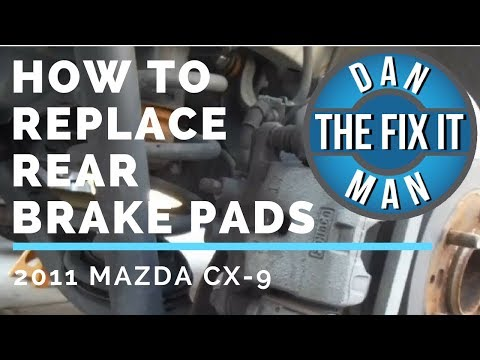 2011 MAZDA CX-9 REAR BRAKE PAD REPLACEMENT – EASY DIY