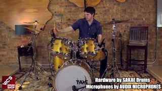 Taye Parasonic Vintage Gold Top Finish 4-Piece Shell Pack with Ryan