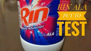 Rin Ala used to remove stain in white shirt  | rin fabric whitener |