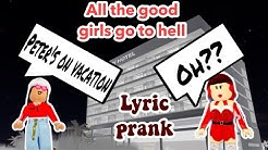 Billie Eilish - All the good girls go to hell LYRIC PRANK ON ROBLOX