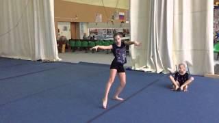 Тренировка на акробатике 2014 год