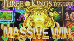 THREE KINGS DELUXE ★ MAX BET ★ OVER 70 FREE GAMES AT MAX BET! ➜ MASSIVE WIN AT THE CASINO