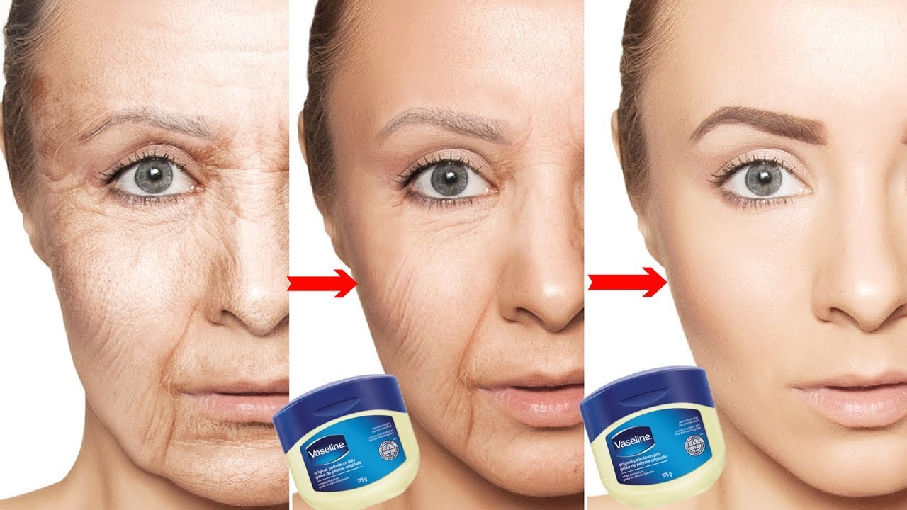 Vaseline for facial wrinkles