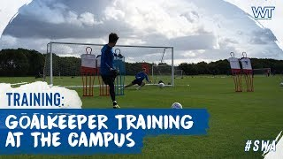 Goalkeeper training at The Campus