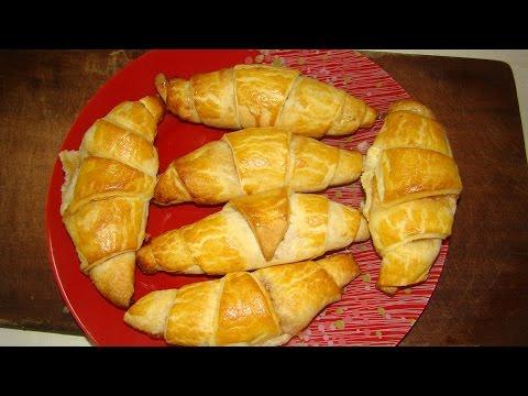 Круассаны с яблочным повидлом(Croissants with apple jam)