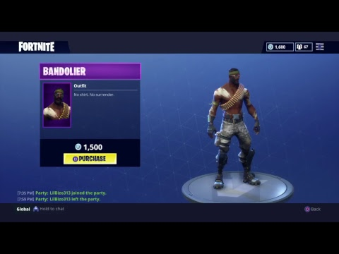 Fortnite New Outfit Bandit Youtube