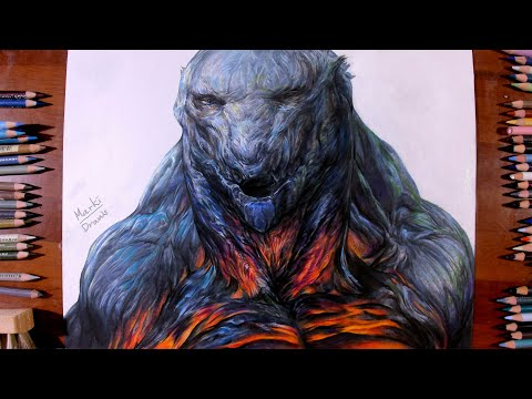 Drawing GODZILLA: Monster Planet - Marki Draws, Colored Pencil