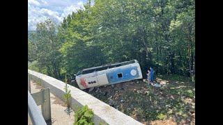 Автобус с пассажирами перевернулся в Краснодарском крае. Есть жертвы