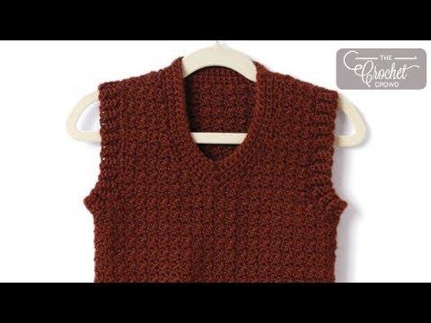 How to Crochet Men's Vest: XS - 5 XL